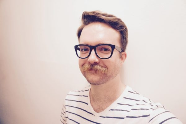 Kyle with Mustache